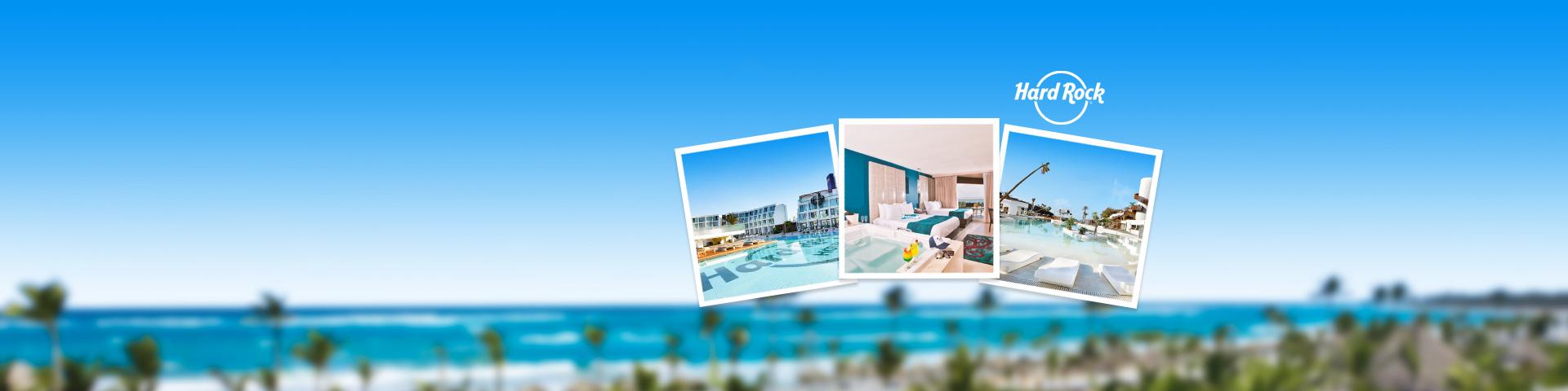 Uitzicht op het hotelgebouw en hotelkamers van hotelketen Hard Rock