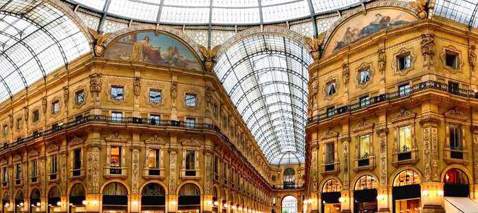 Winkelgalerie in Milaan
