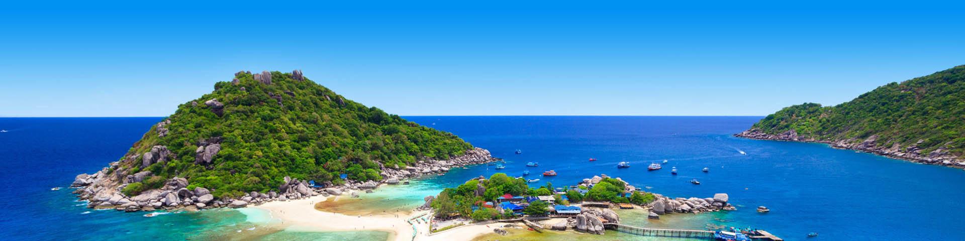 Prachtig exotisch eiland voor een verre reis