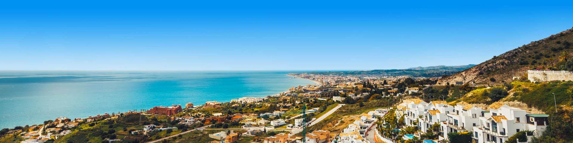 Kustlijn van Benalmadena in Zuid Spanje