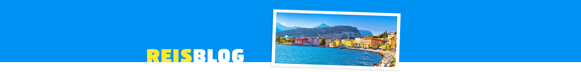 Gekleurde huisjes aan de boulevard en het Gardameer