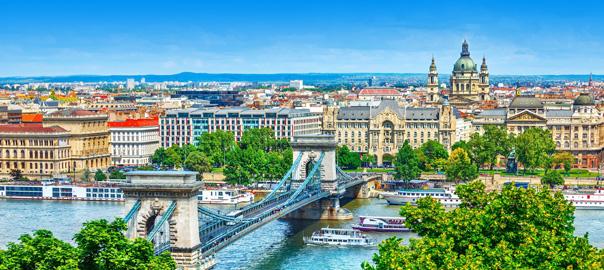 Uitzicht op een prachtige stad