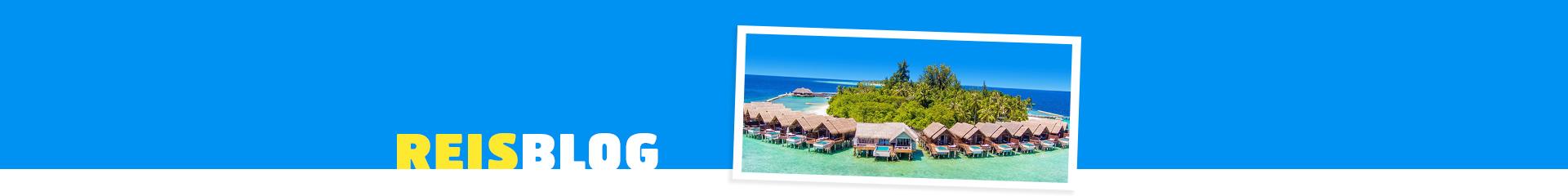 Prachhtige vakantie huizen in de azuurblauwe zee met een groen hart in het midden .