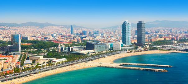 Uitzicht op de kust van Spanje